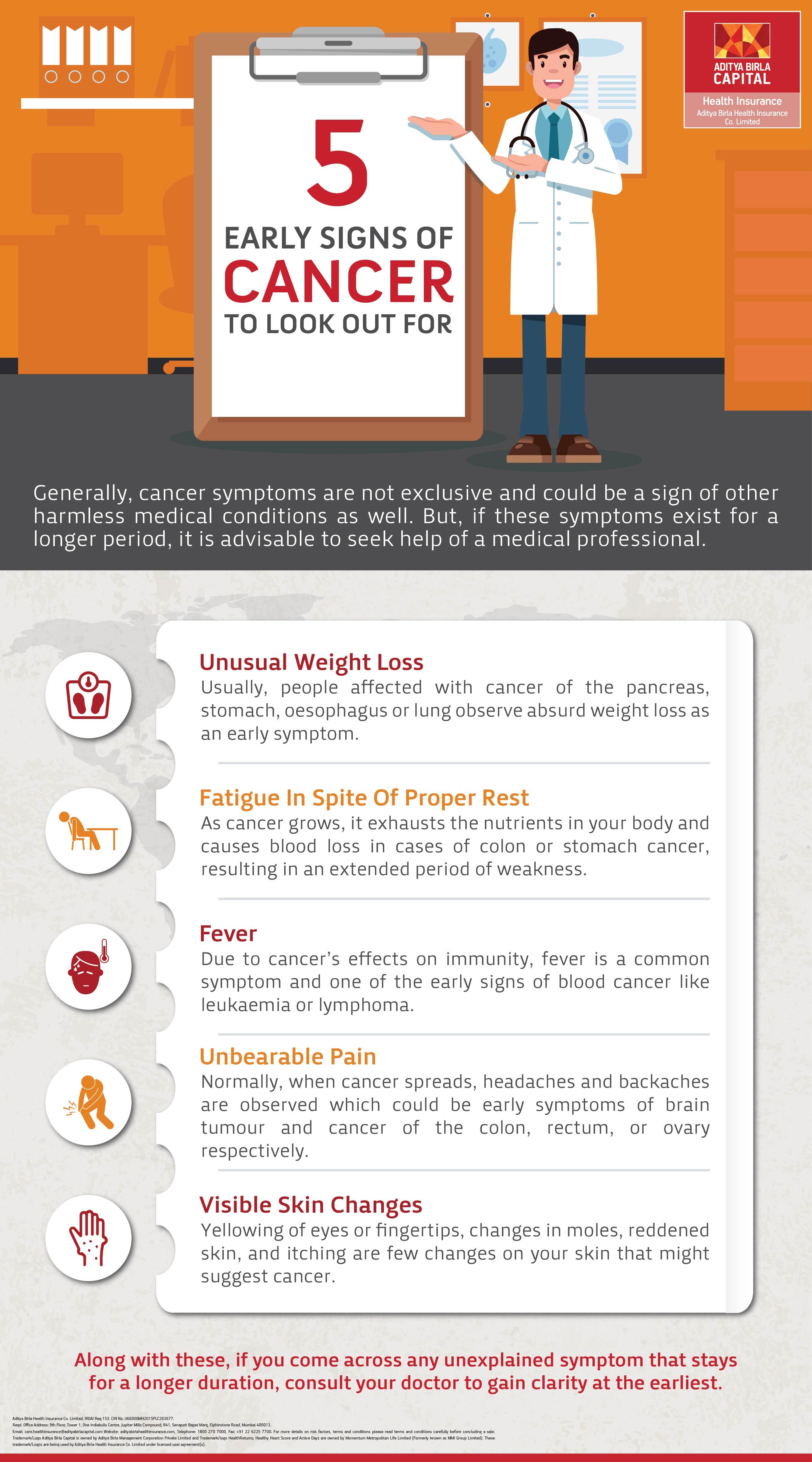 Warning Signs Of Cancer Infographic - Activ Together