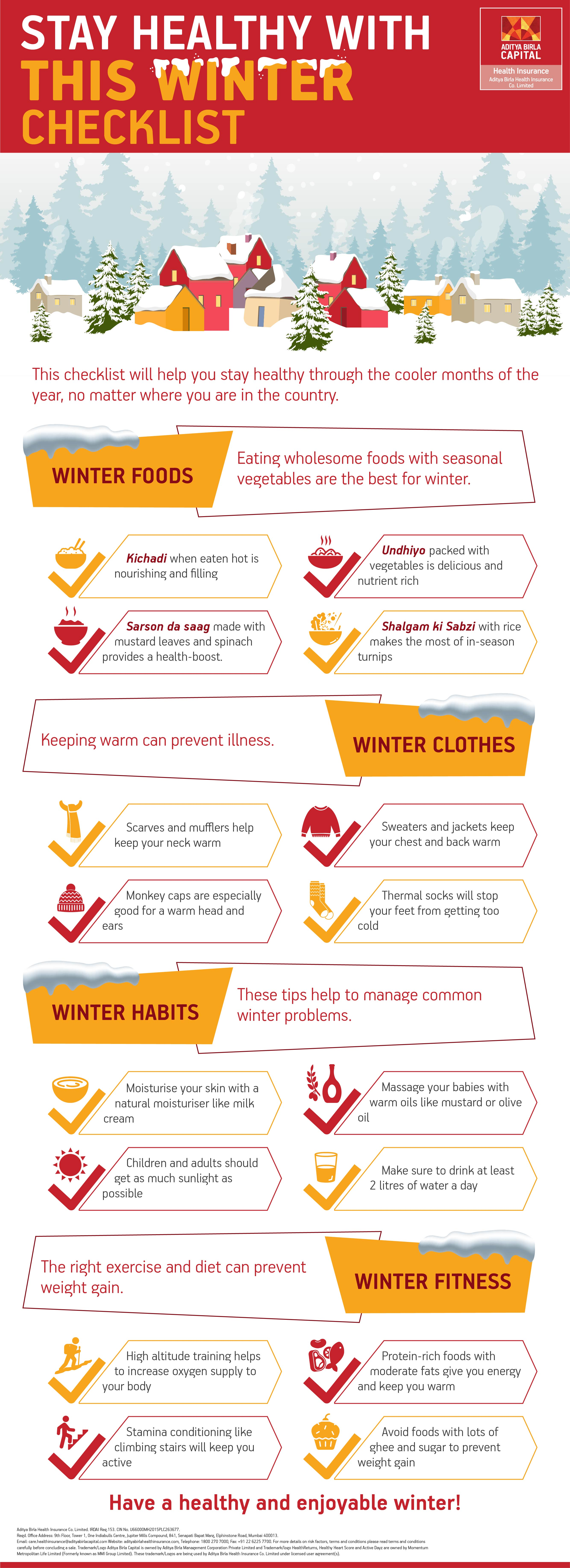 Winter Checklist Infographic - Activ Living