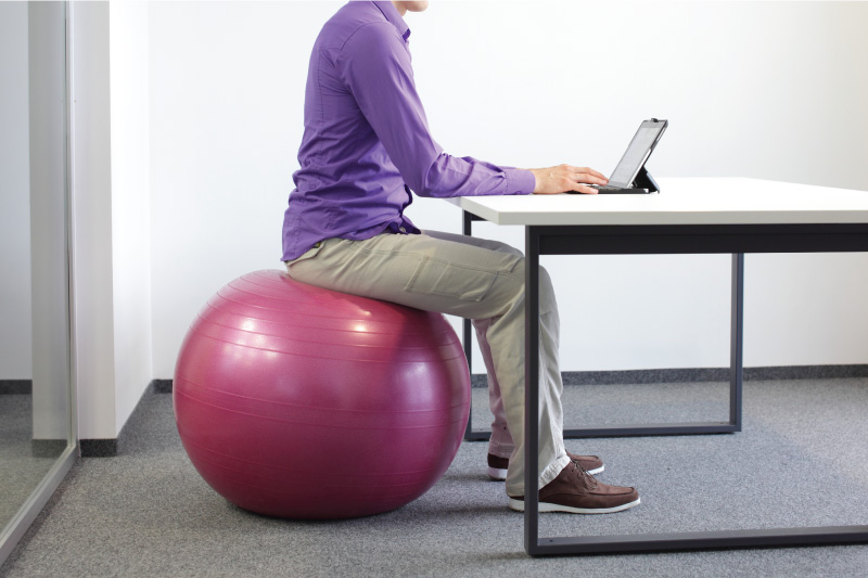 Sitting On A Yoga Ball To Improve Posture - Activ Living