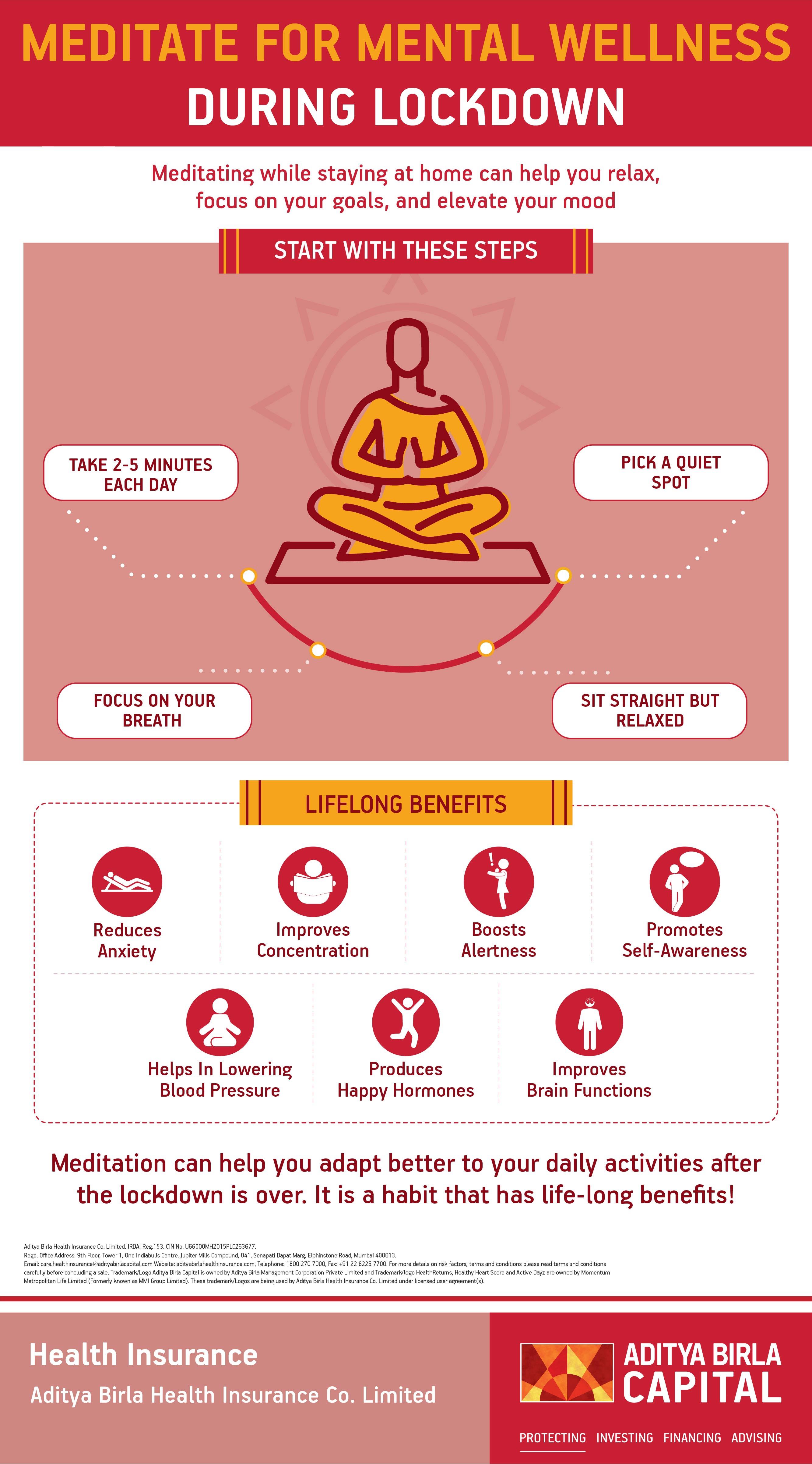 Benefits Of Meditation Infographic - Activ Living