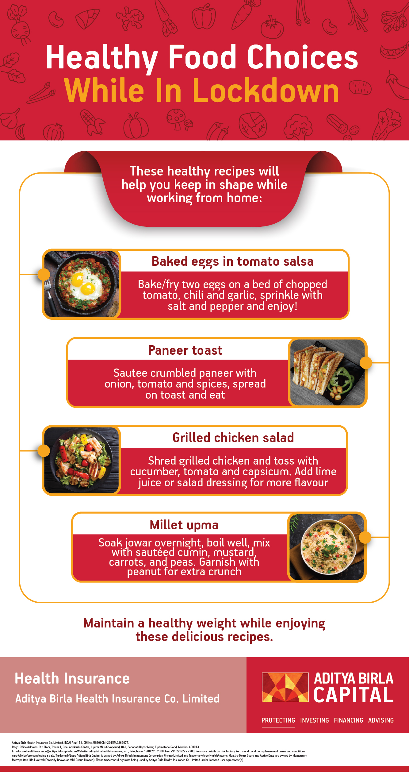 Healthy Food During Quarantine Infographic - Activ Living