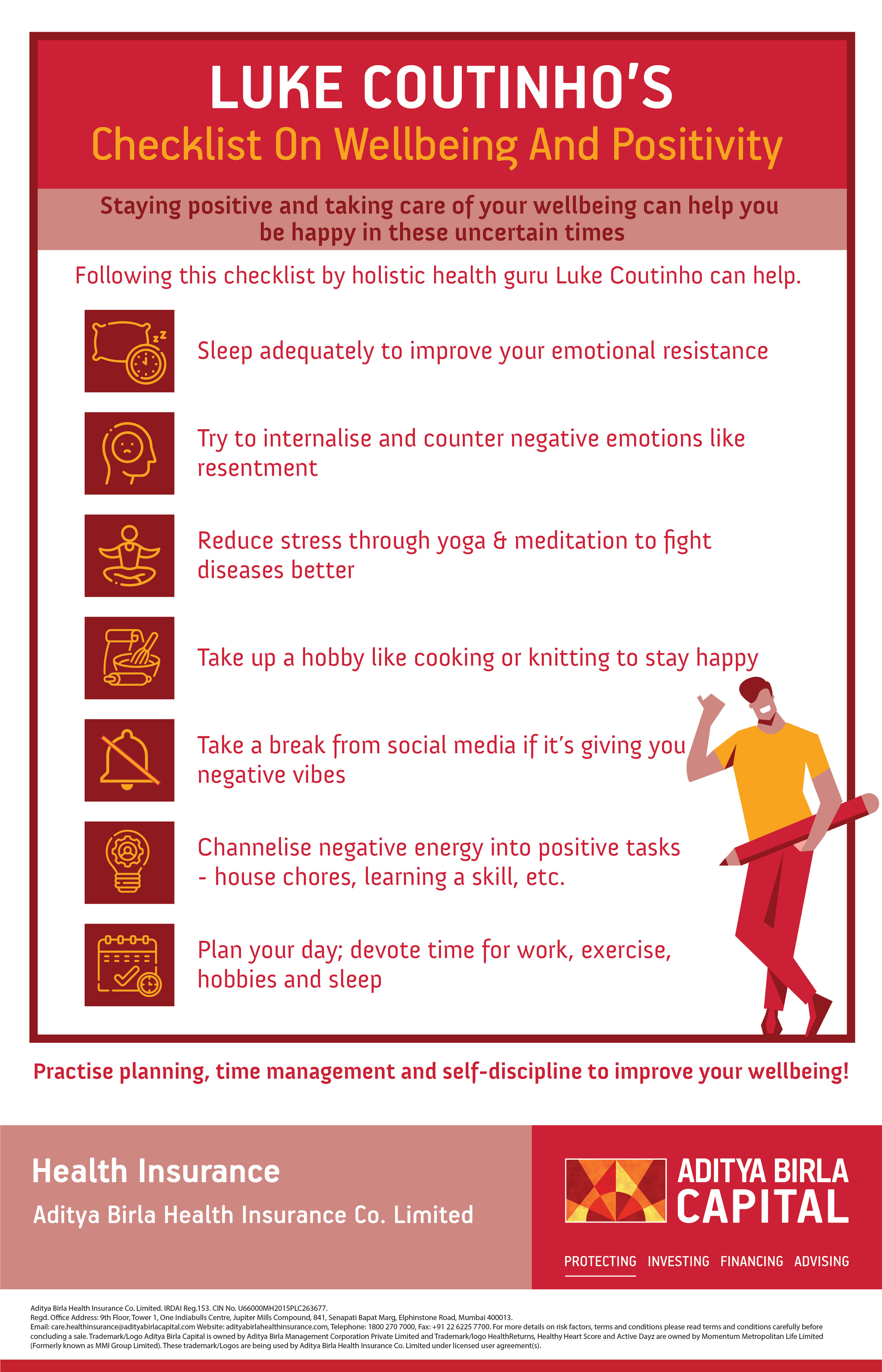 Wellbeing Checklist Infographic- Activ Living