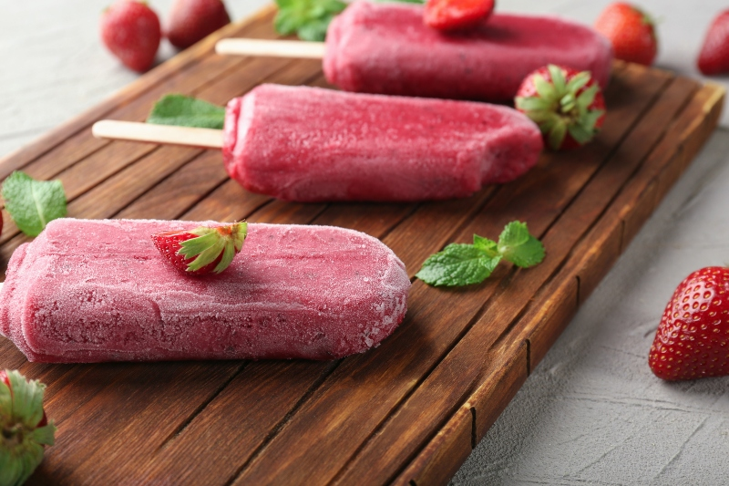 Strawberry Popsicles- Activ Living